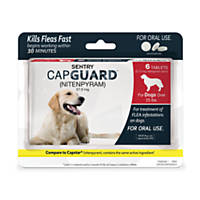 Sentry Capguard Flea Tablets for Dogs Over 25 lbs.