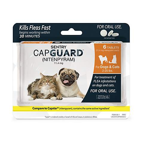 Sentry Capguard Flea Tablets for Dogs 2 to 25 lbs.