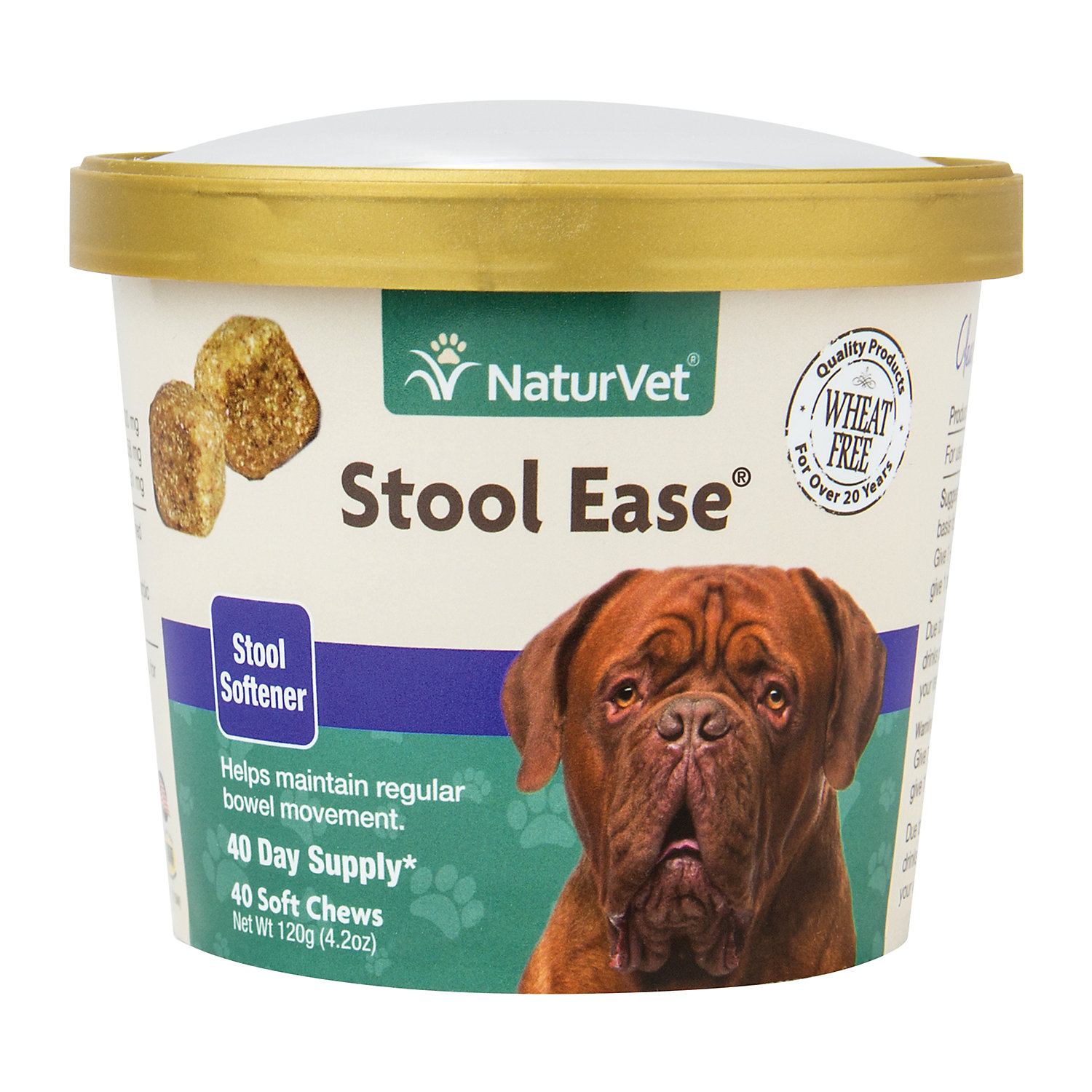 Naturvet Stool Ease Stool Softener Dog Soft Chews Pack Of 40 Chews