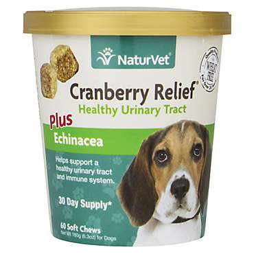 NaturVet Cranberry Relief Healthy Urinary Tract Dog Soft Chews