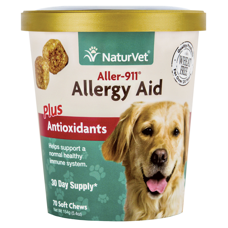 Naturvet Aller 911 Allergy Aid Dog Soft Chews Pack Of 70 Chews