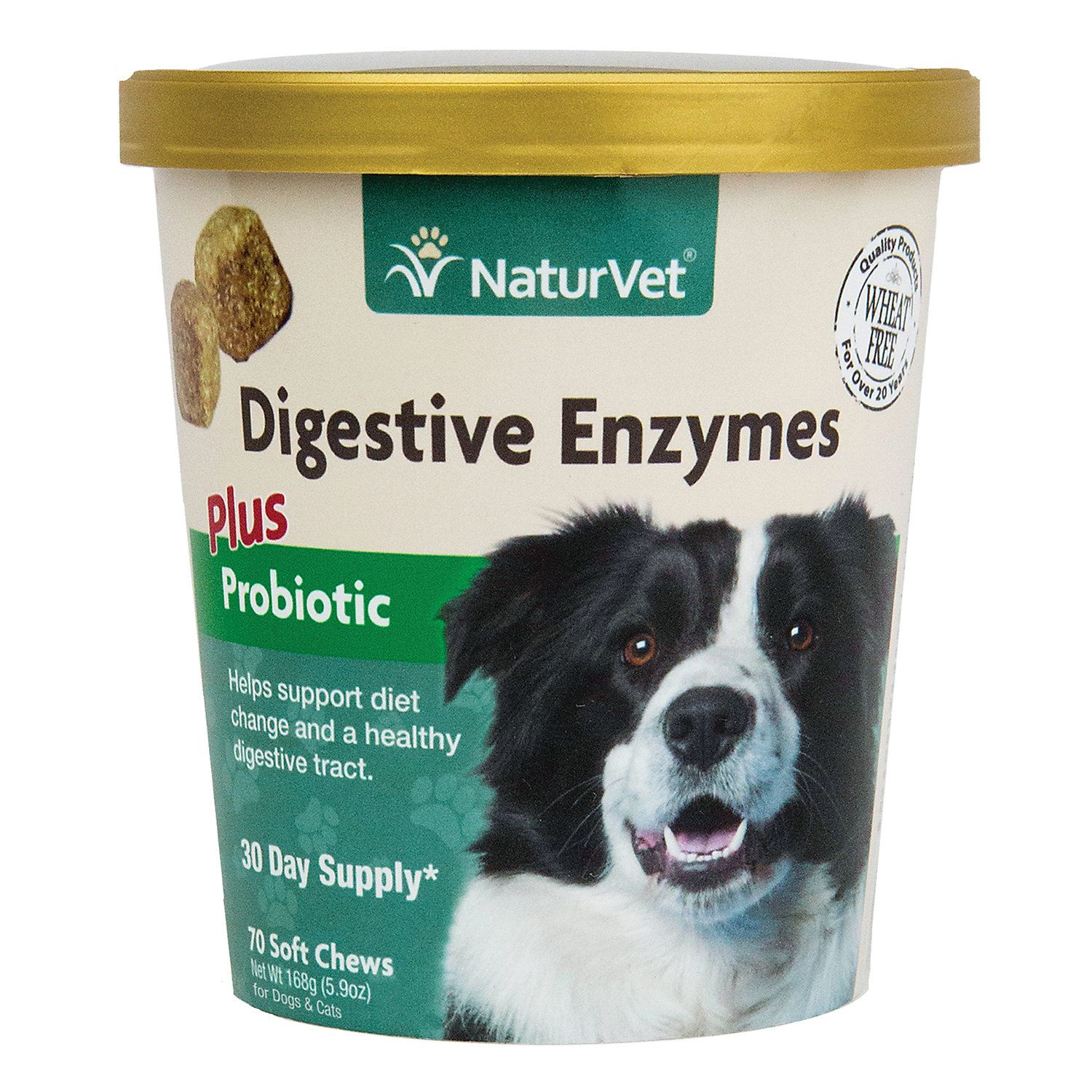 Naturvet Naturals Digestive Enzymes Dog Soft Chews Pack Of 70 Chews