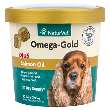 NaturVet Omega-Gold Salmon Oil Dog Chews