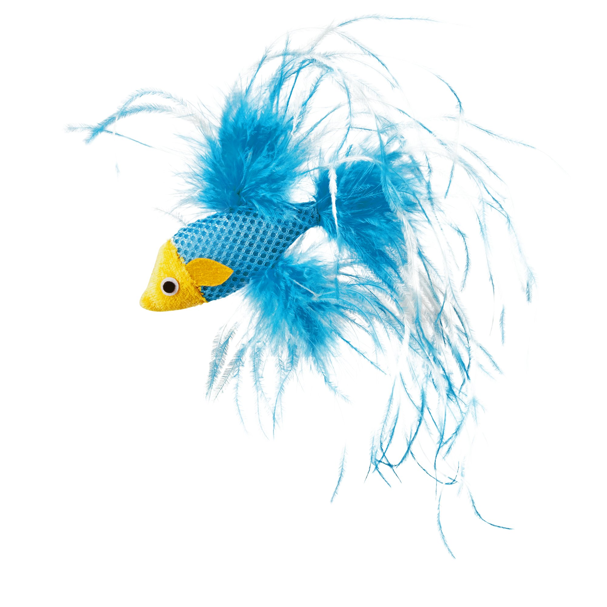 Leaps Amp Bounds Feathered Fish Cat Toy With Catnip Petco