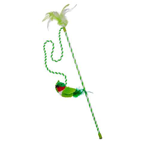 Our Pet's Play-N-Squeak Bird Wand Cat Toy