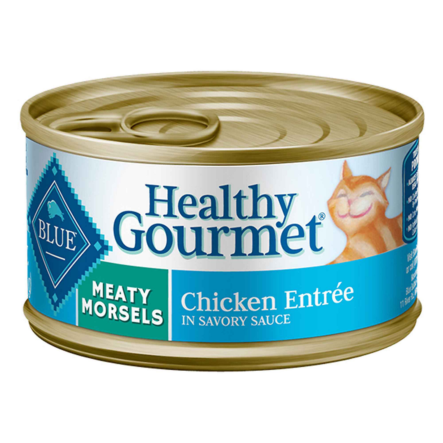 Blue Buffalo Healthy Gourmet Meaty Morsels Chicken Adult Canned Cat Food 3 Oz. Case Of 24
