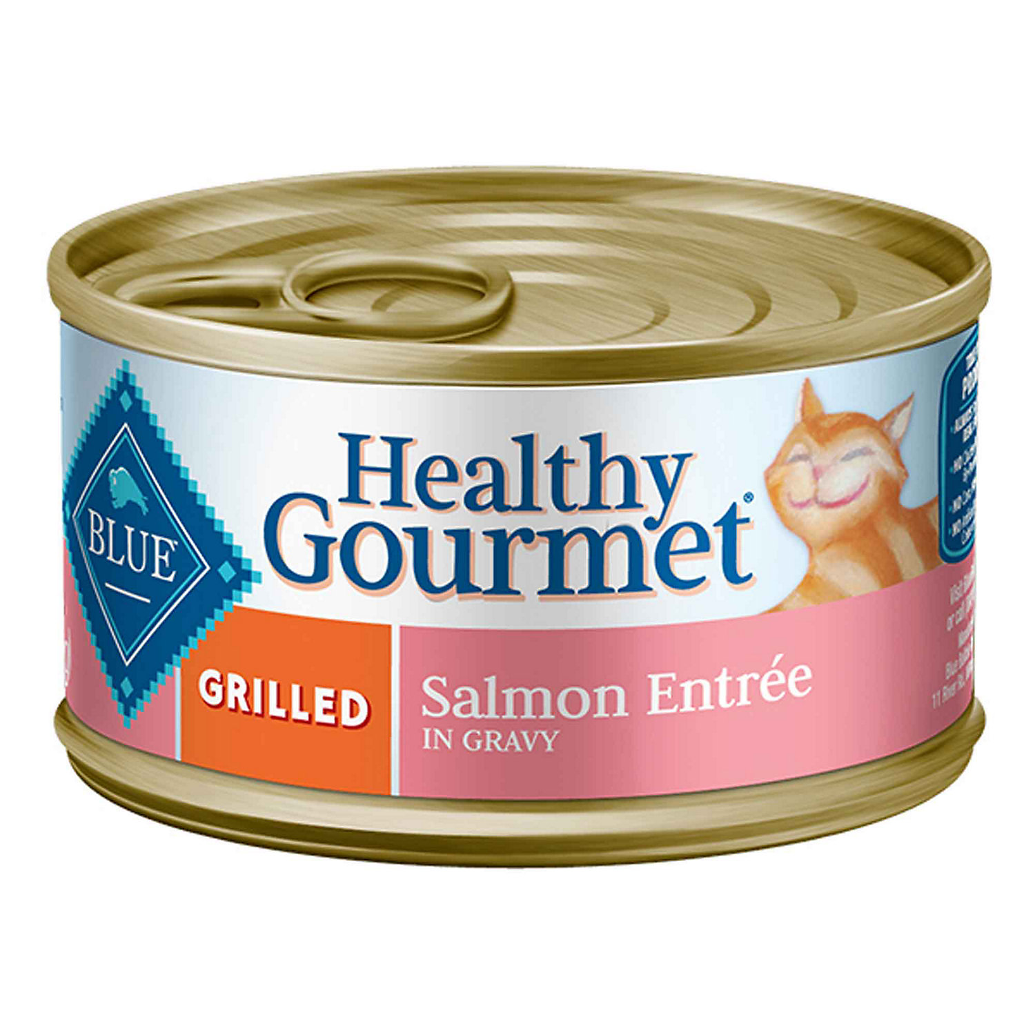 Blue Buffalo Healthy Gourmet Grilled Salmon Adult Canned Cat Food 3 Oz. Case Of 24