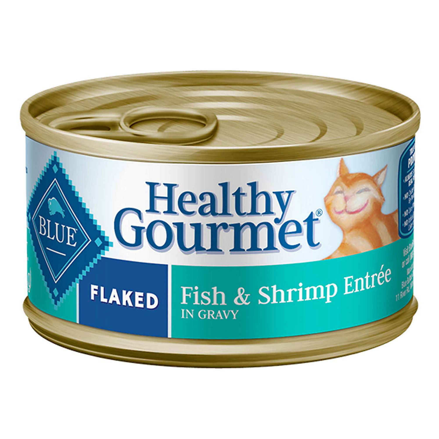 Blue Buffalo Healthy Gourmet Flaked Fish Shrimp Adult Canned Cat Food 3 Oz. Case Of 24