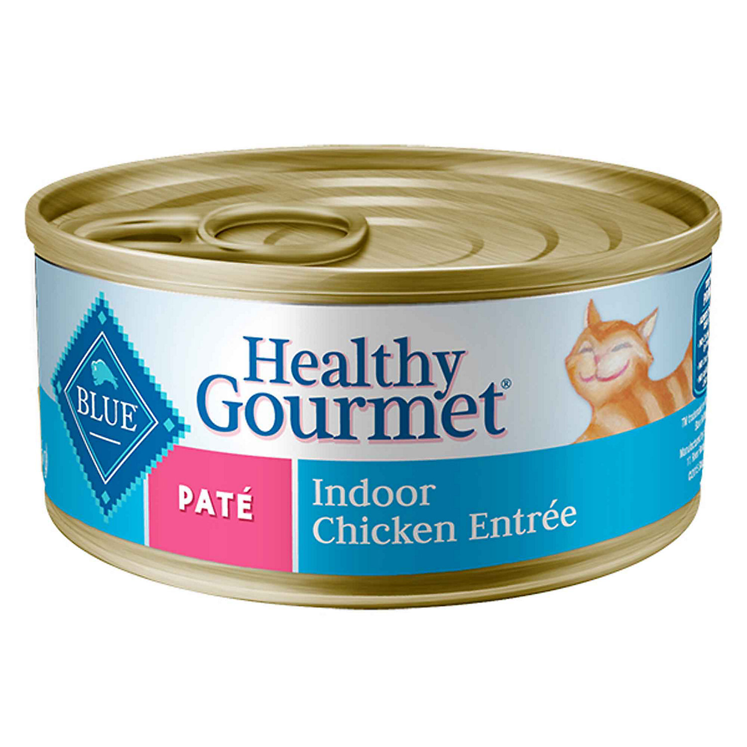 Blue Buffalo Healthy Gourmet Pate Indoor Chicken Adult Canned Cat Food 3 Oz. Case Of 24