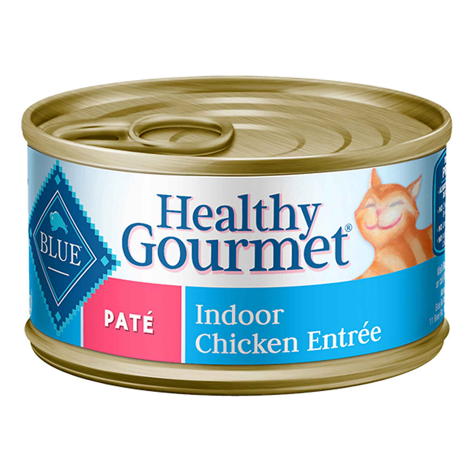 Blue Buffalo Healthy Gourmet Pate Indoor Chicken Adult Canned Cat Food 5.5 Oz. Case Of 24