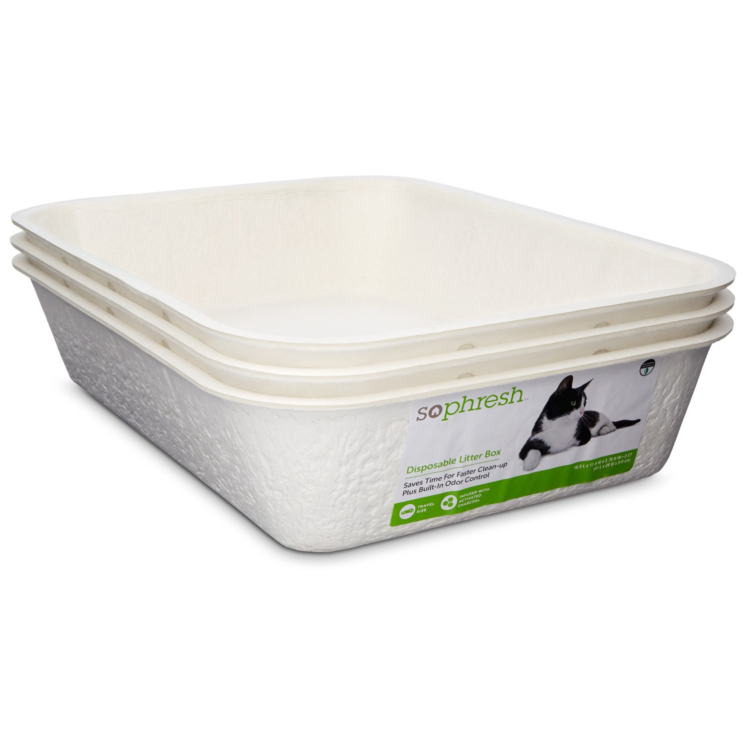 So phresh disposable litter boxes petco for Dog litter box petco