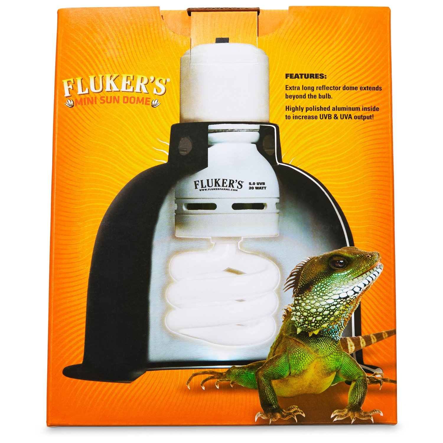 Reptile lights uvb uv lighting lamps bulbs petco flukers mini sun dome reptile lamp arubaitofo Choice Image