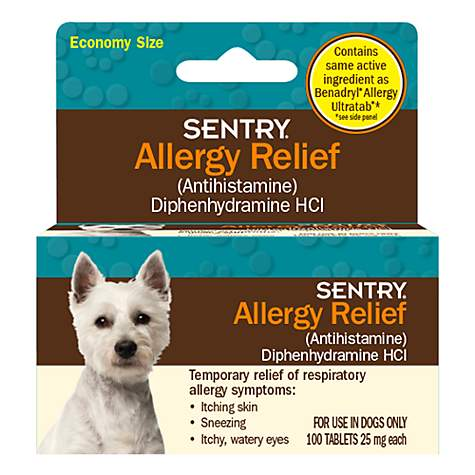 Sentry Allergy Relief Dog Tablets, 100 count