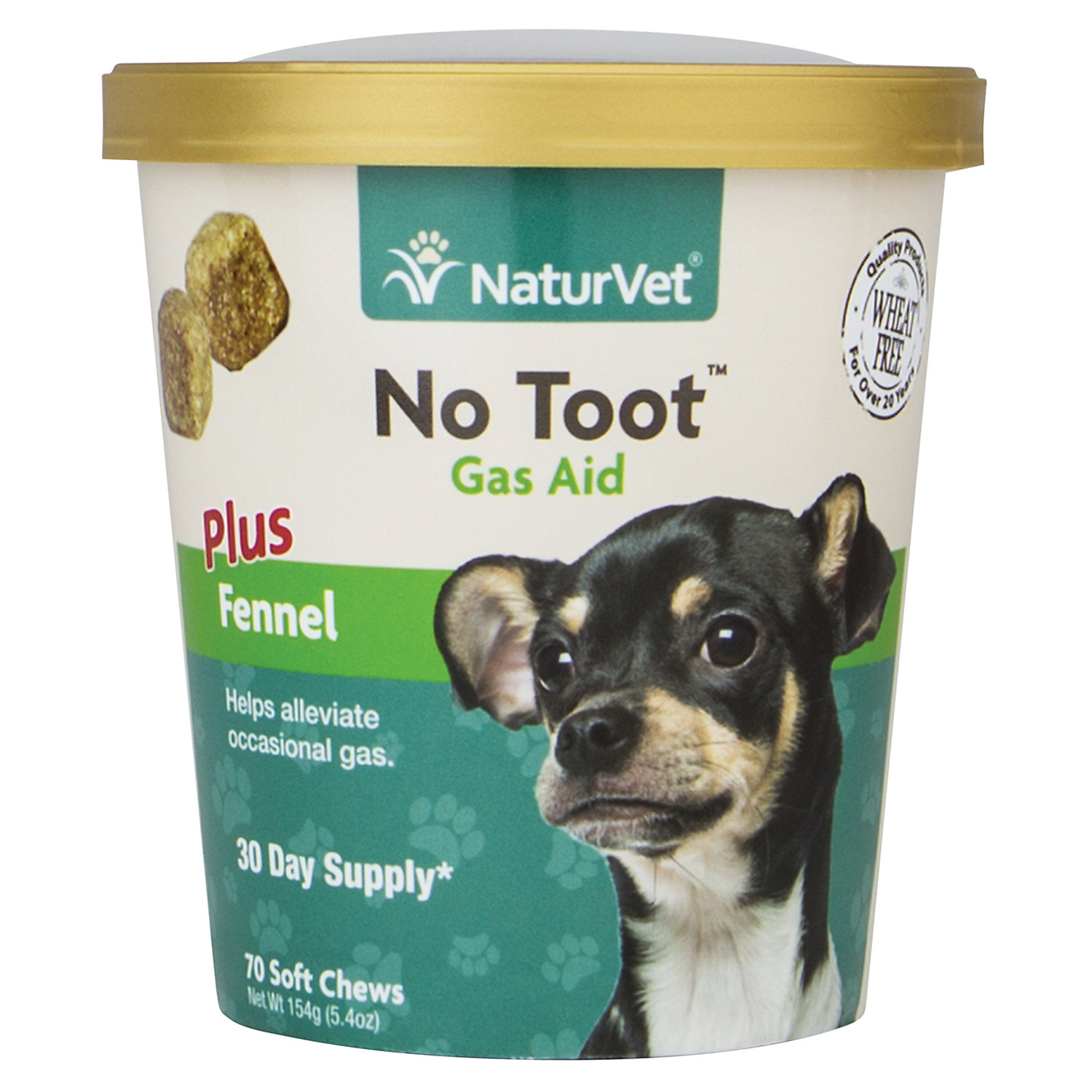 Naturvet No Toot Gas Aid Dog Soft Chews Pack Of 70 Chews