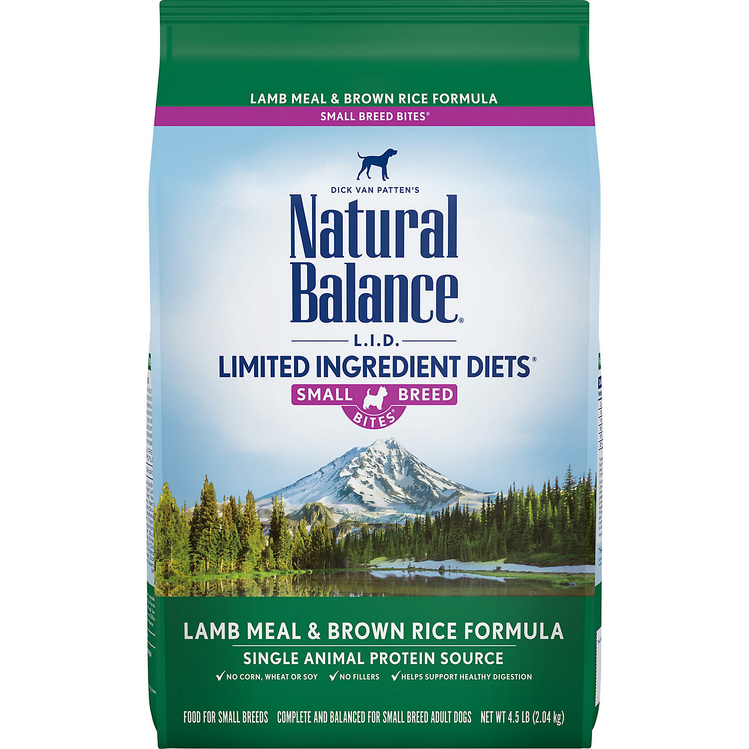 Natural Balance L.i.d. Limited Ingredient Diets Lamb Rice Small Breed Bites Dog Food 4.5 Lbs.