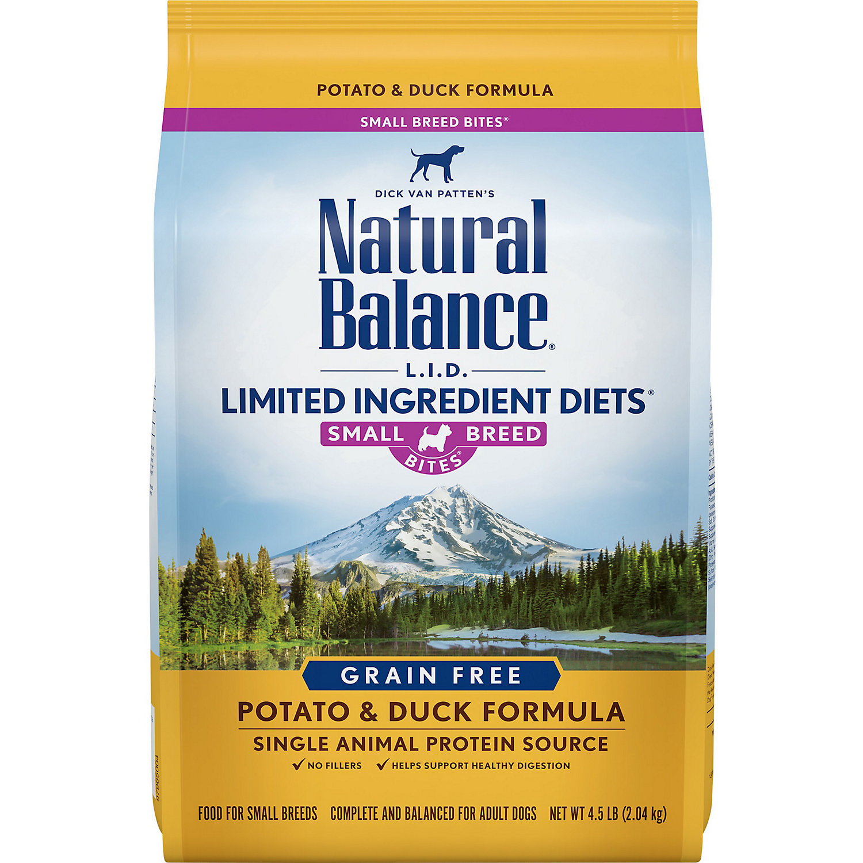Natural Balance Small Bites Potato Duck Dog Food 4.5 Lbs.