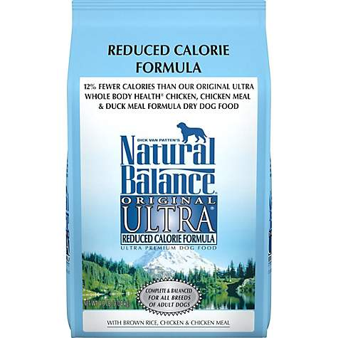 Natural Balance Reduced Calorie Formula Ultra Premium Dog Food 4 5