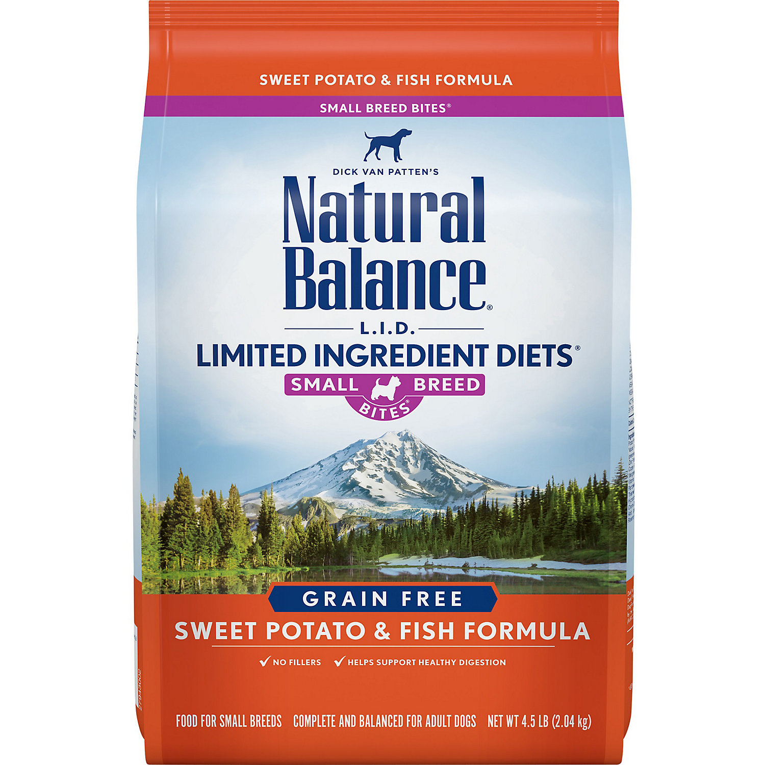 Natural Balance L.i.d. Limited Ingredient Diets Sweet Potato Fish Small Breed Bites Dog Food 4.5 Lbs.