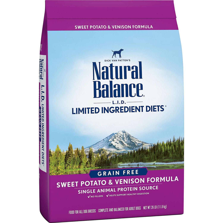 Natural Balance L.i.d. Limited Ingredient Diets Grain Free Sweet Potato Venison Dog Food 26 Lbs.