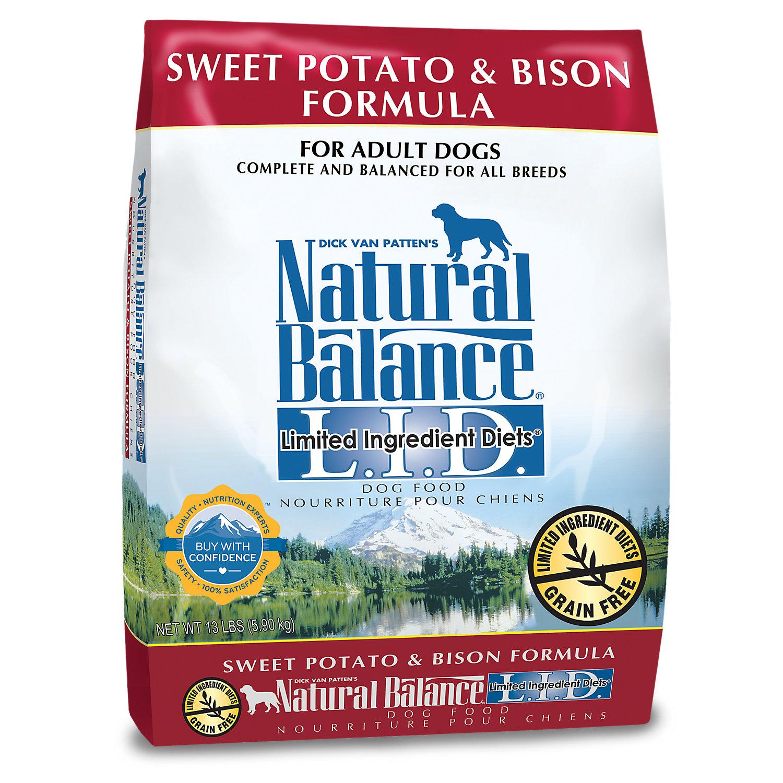 Natural Balance L.i.d. Limited Ingredient Diets Sweet Potato Bison Dog Food 13 Lbs.
