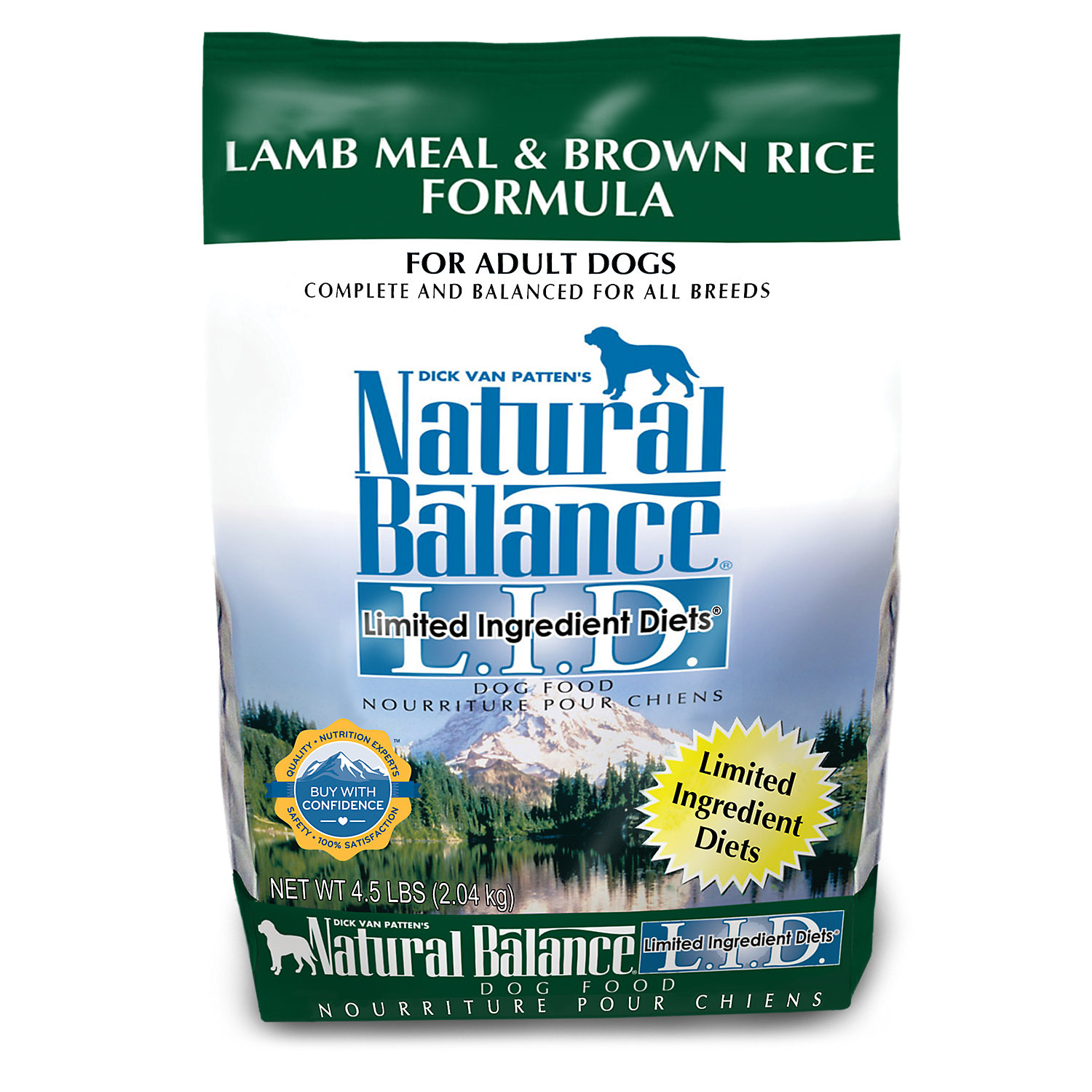 Natural Balance L.i.d. Limited Ingredient Diets Lamb Meal Brown Rice Dog Food 4.5 Lbs.