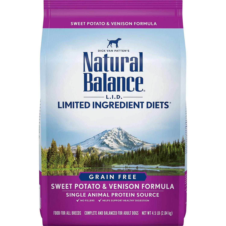 Natural Balance L.i.d. Limited Ingredient Diets Sweet Potato Venison Dog Food 4.5 Lbs.
