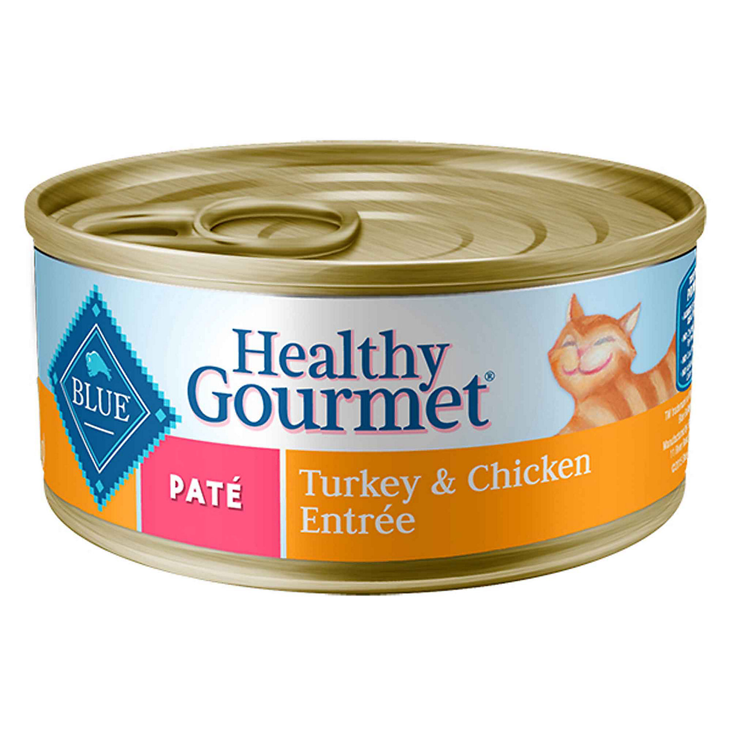 Blue Buffalo Healthy Gourmet Pate Turkey Chicken Adult Canned Cat Food 3 Oz. Case Of 24