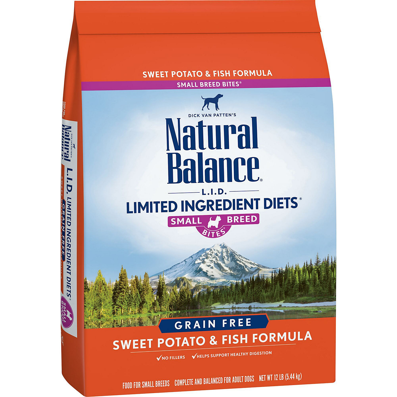 Natural Balance L.i.d. Limited Ingredient Diets Sweet Potato Fish Small Breed Bites Dog Food 12 Lbs.