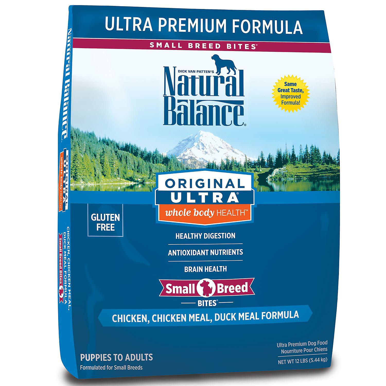 Natural Balance Small Bites Original Ultra Whole Body Health Dog Food 12 Lbs.