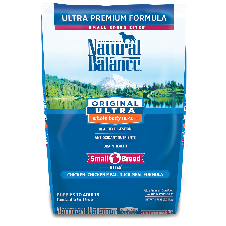 Natural Balance Small Bites Original Ultra Whole Body Health Dog Food 4.5 Lbs.