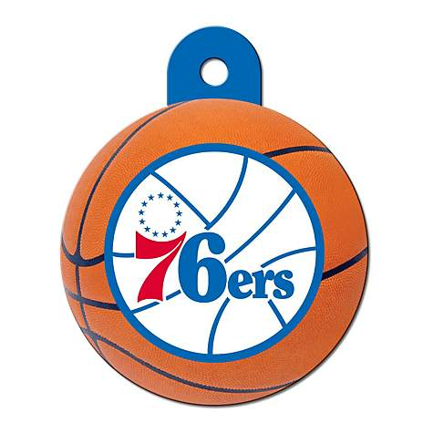 Quick-Tag Philadelphia 76ers NBA Circle Personalized Engraved Pet ID Tag, Large