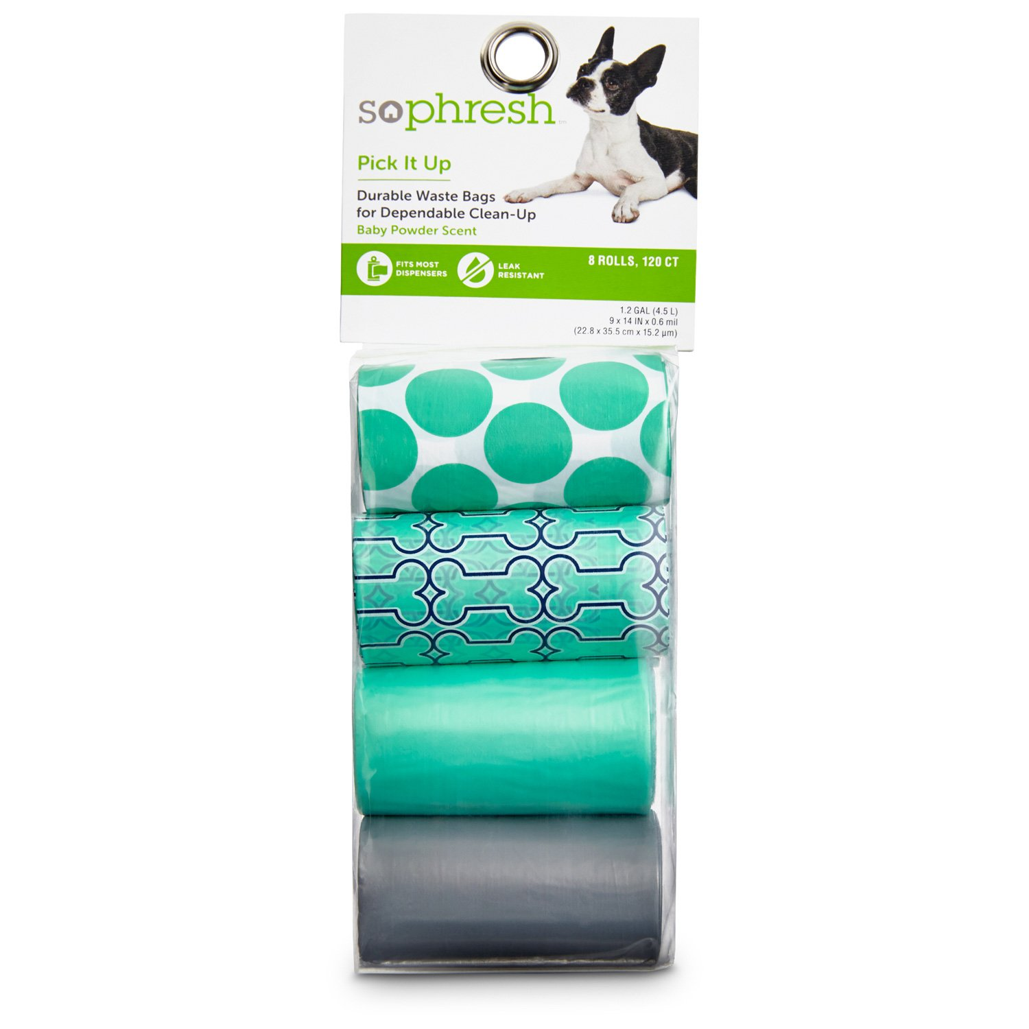 so phresh pick it up assorted bone print scented dog waste bags teal petco - Dog Waste Bags