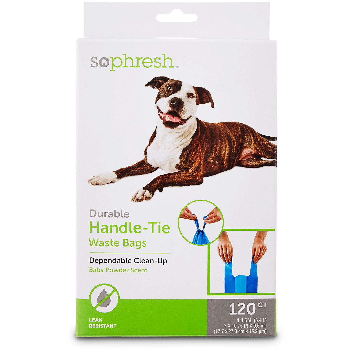 So Phresh Pick It Up Handle Tie Scented Dog Waste Bags 120 Count