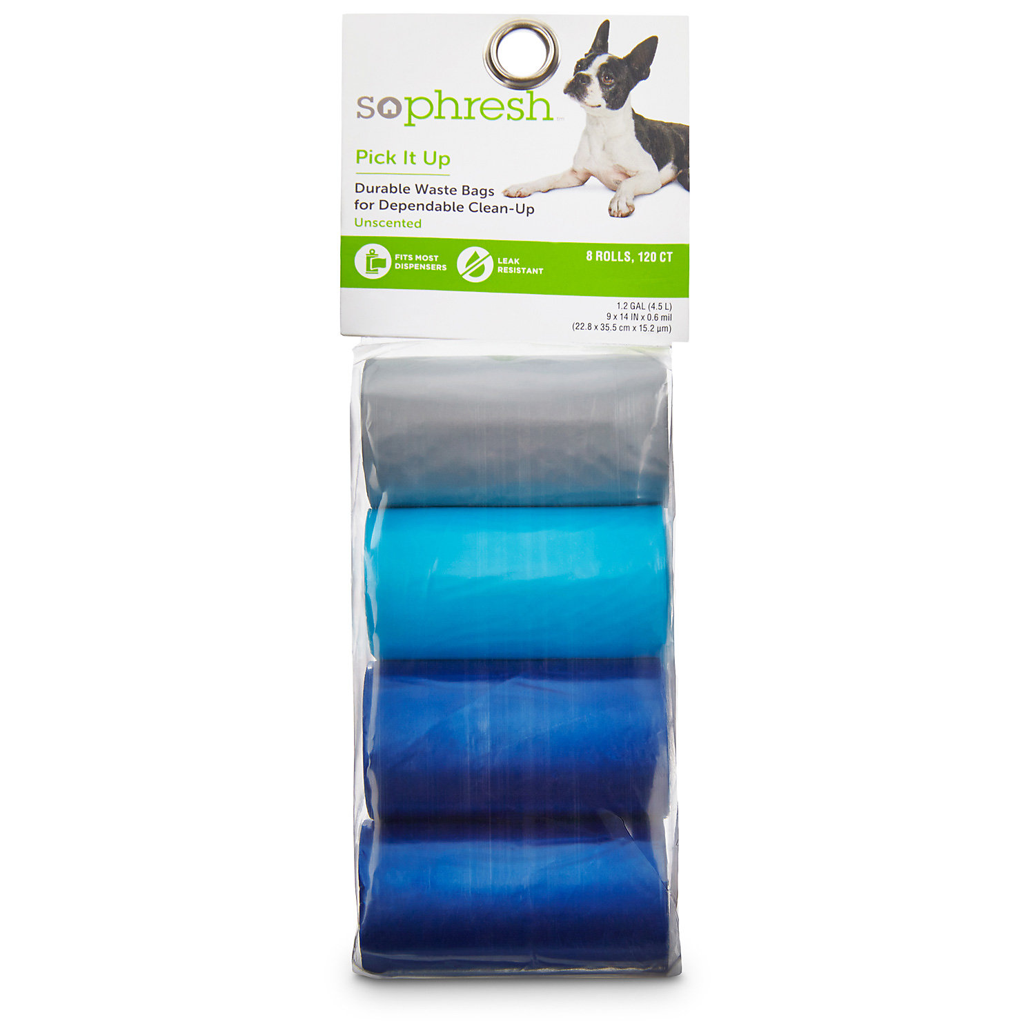 So Phresh Pick It Up Dog Waste Bags Blue/gray 120 Count Small Blue / Gray