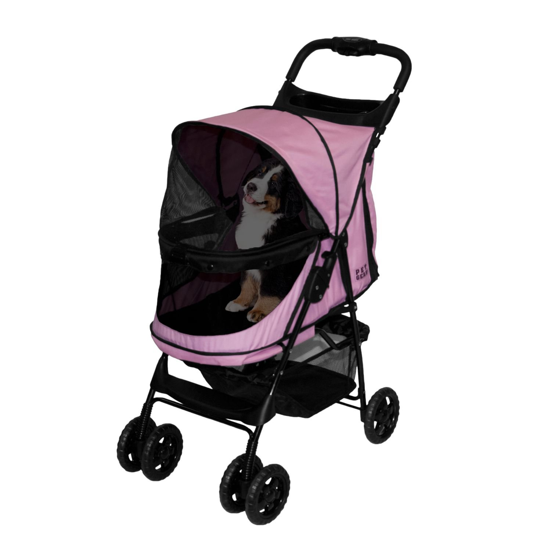 Pet Gear Happy Trails No-Zip Pet Stroller in Pink Diamond ...