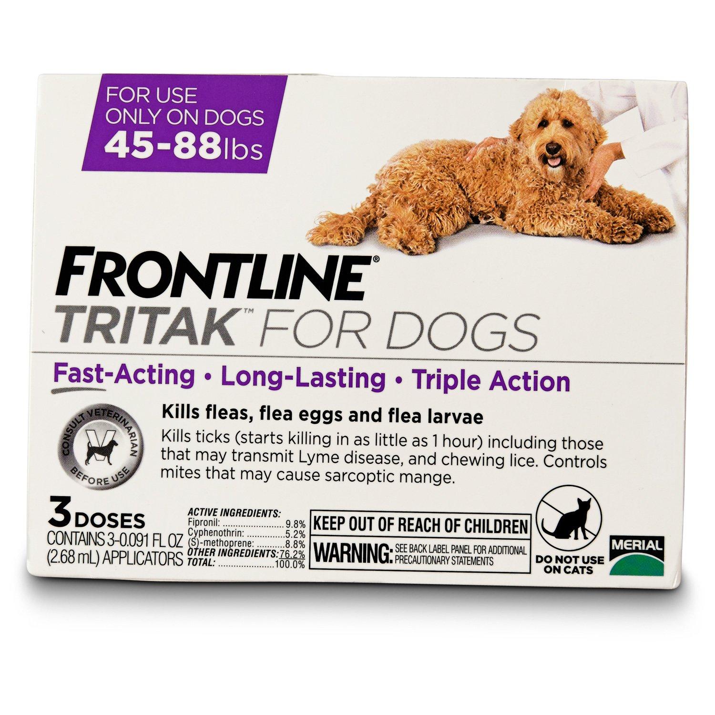 FRONTLINE TRITAK Dog Flea Treatment, For dogs 45-88 lbs.
