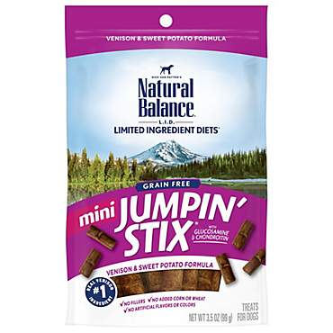 Natural Balance L.I.T. Limited Ingredient Treats Mini Jumpin Stix Venison & Sweet Potato Dog Treats