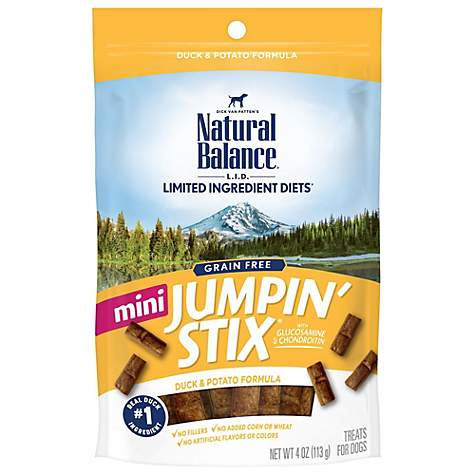 Natural Balance L I T Limited Ingredient Treats Mini Jumpin Stix