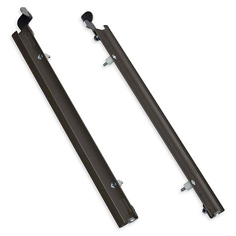 Plexidor Extra Large Sliding Tracks with Flip Lock for Pet Doors in Bronze