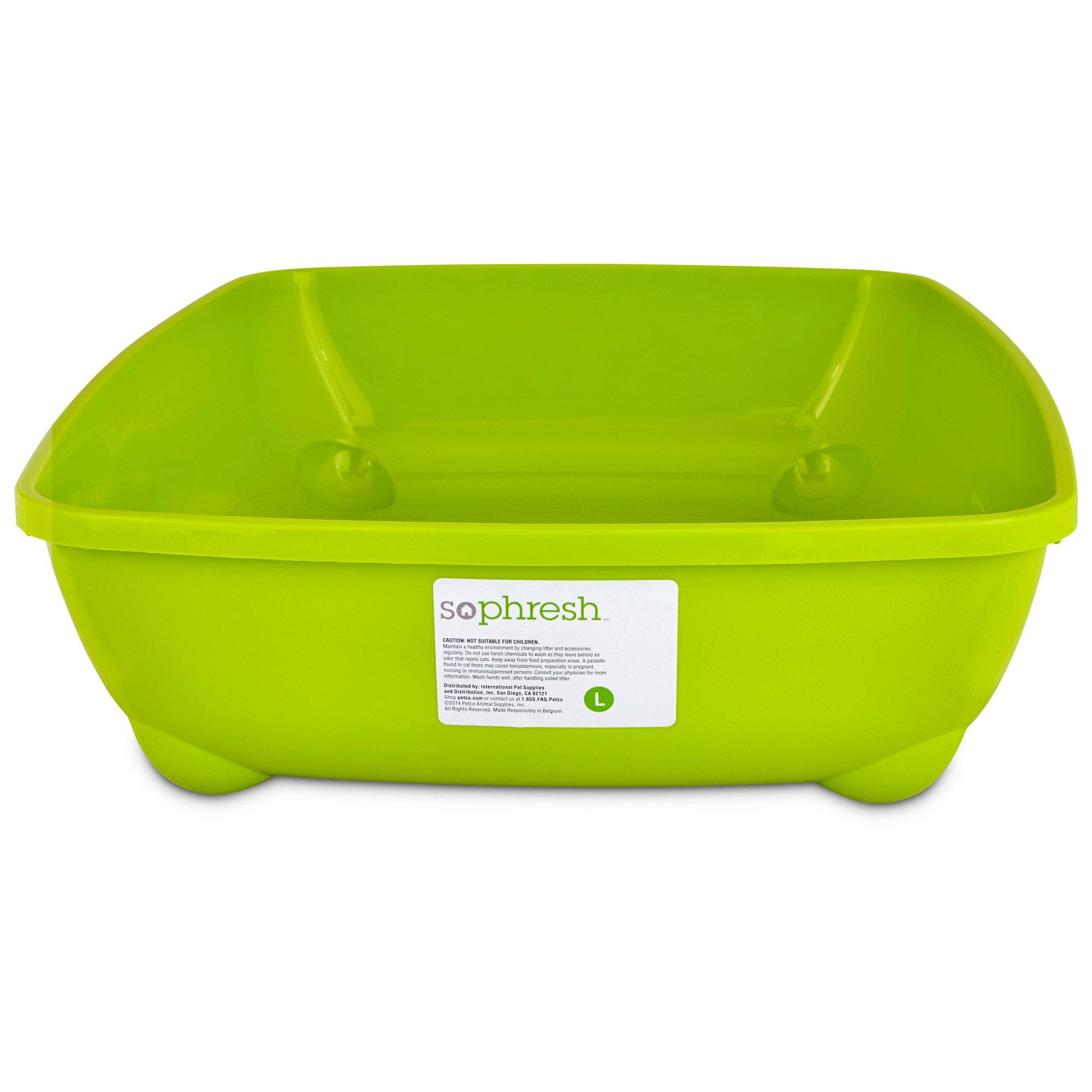 So Phresh Lime Green Large Open Litter Box