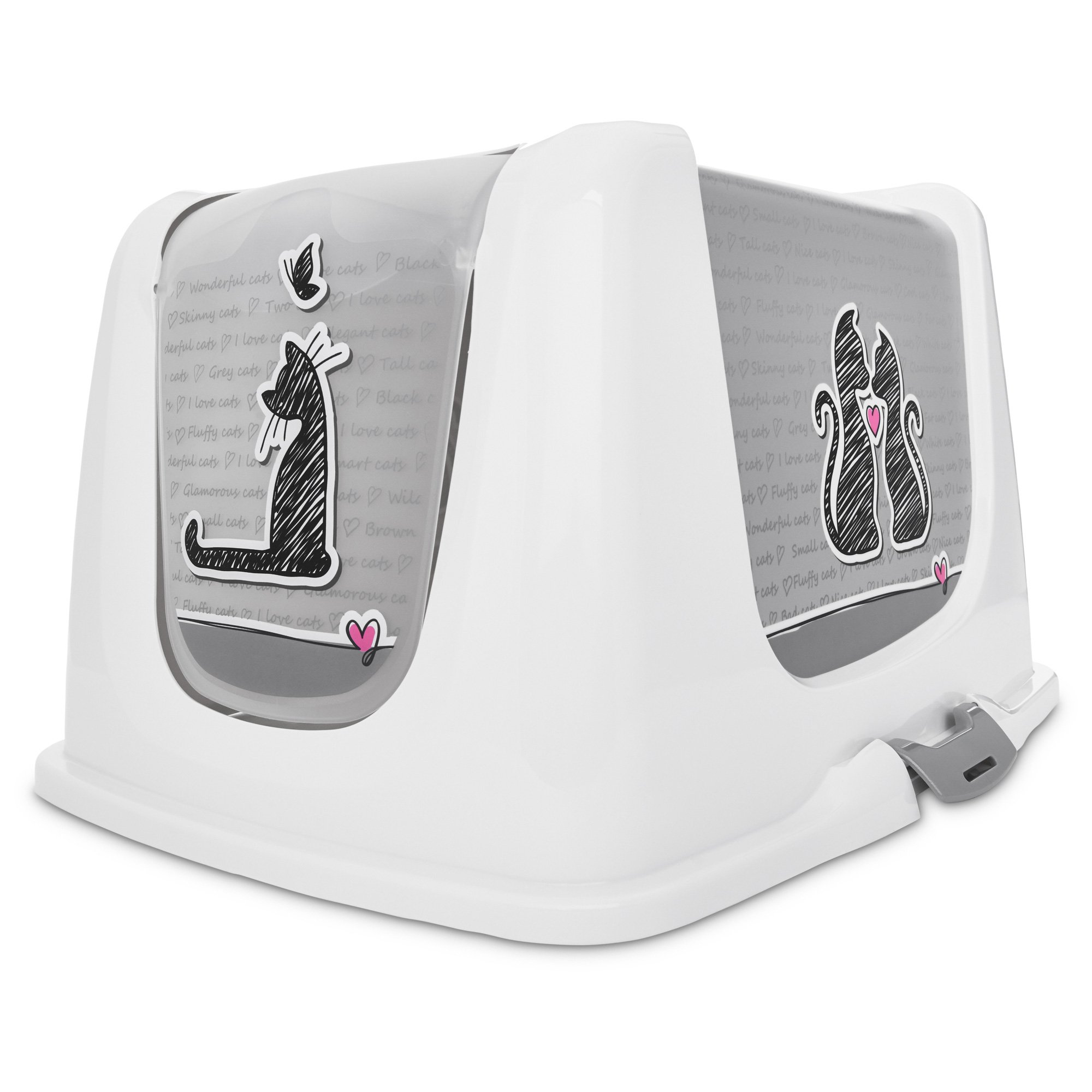 so phresh x-large love cat litter box privacy hood
