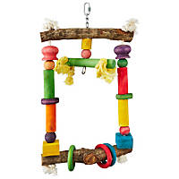 A&E Cage Company Happy Breaks Natural Swing Bird Toy