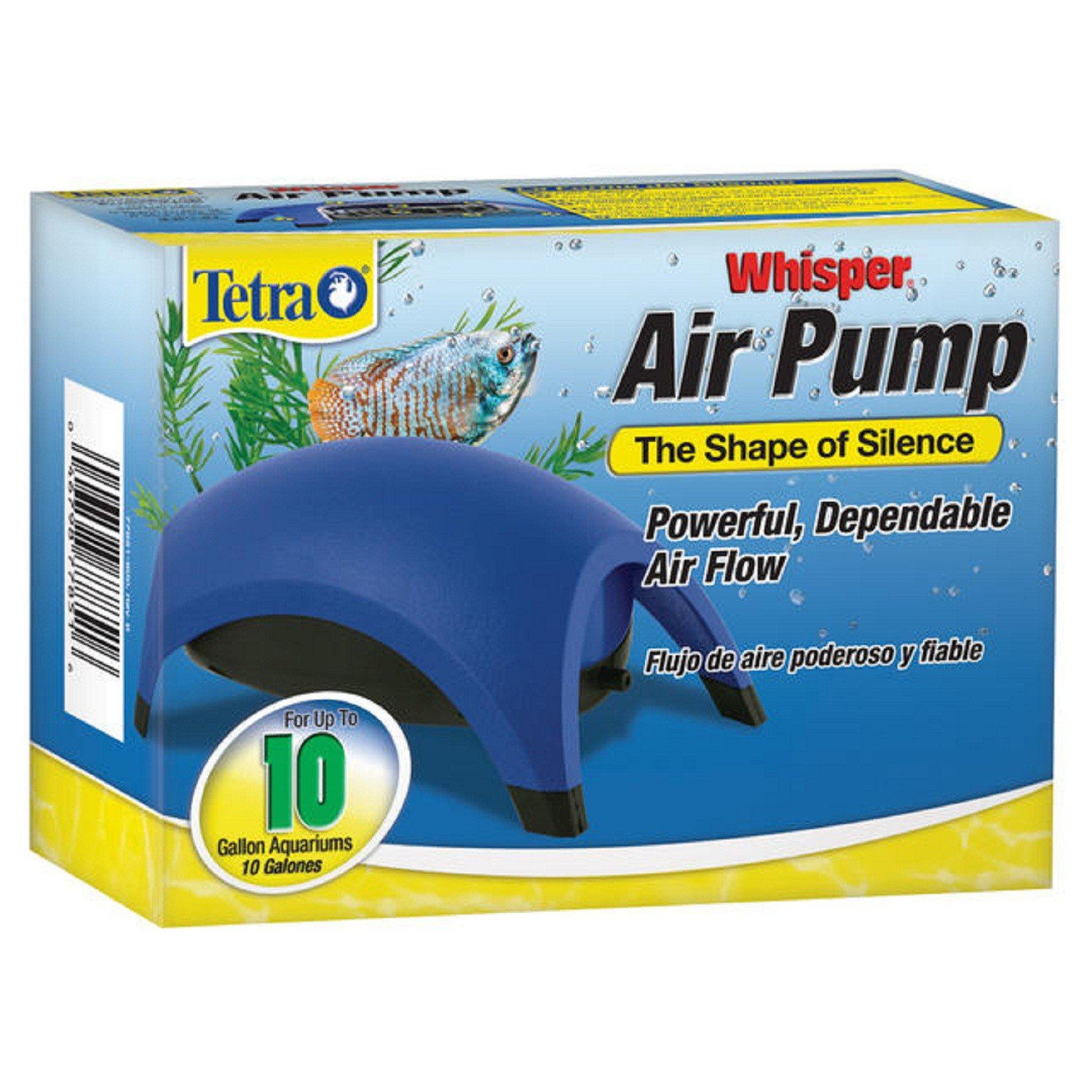 Tetra whisper aquarium air pump for 10 gallon aquariums for Tetra fish tanks