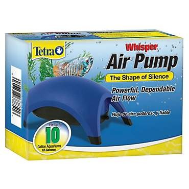 Tetra Whisper Aquarium Air Pump, For 10 gallon Aquariums