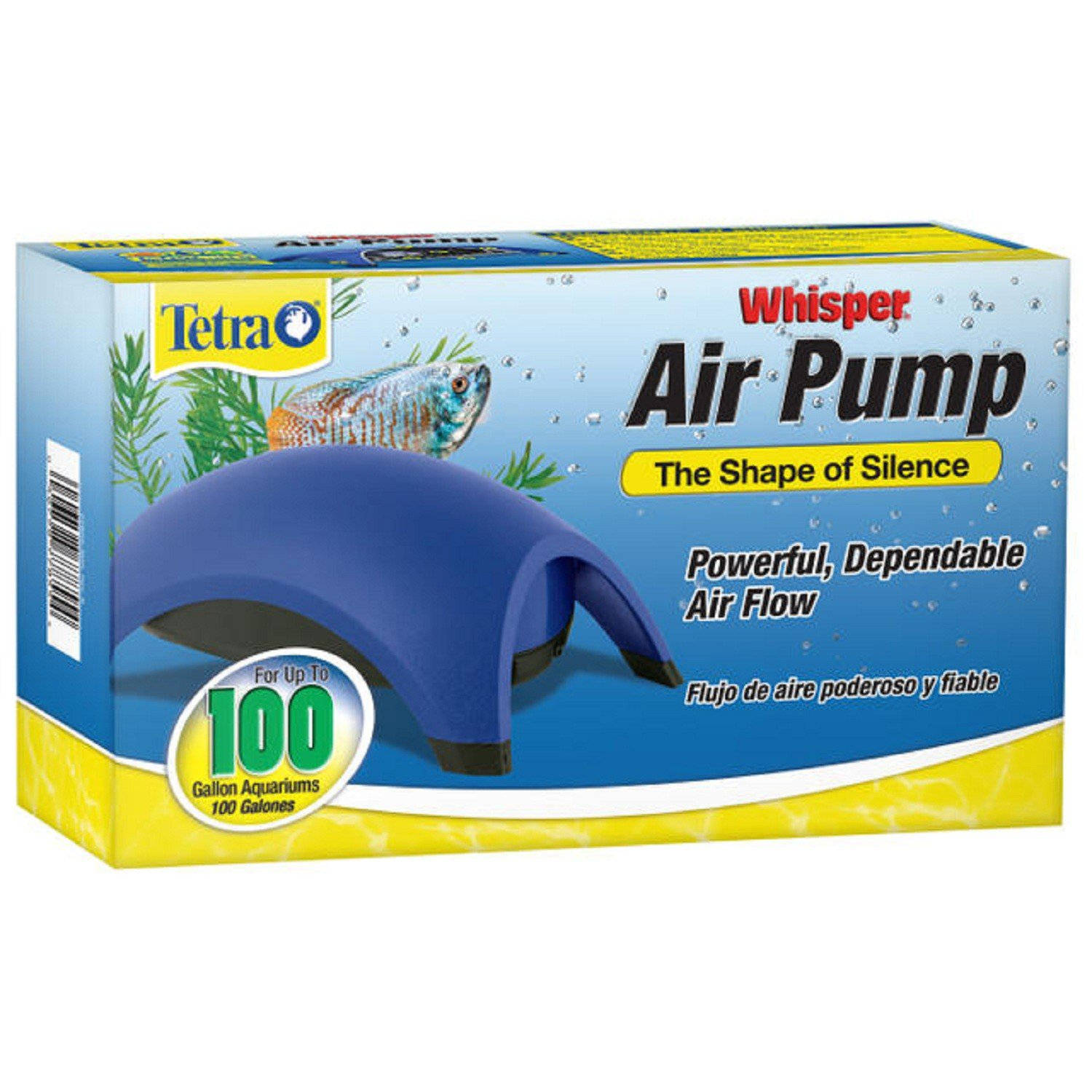 Tetra whisper aquarium air pump for 100 gallon aquariums for Air pump for fish tank