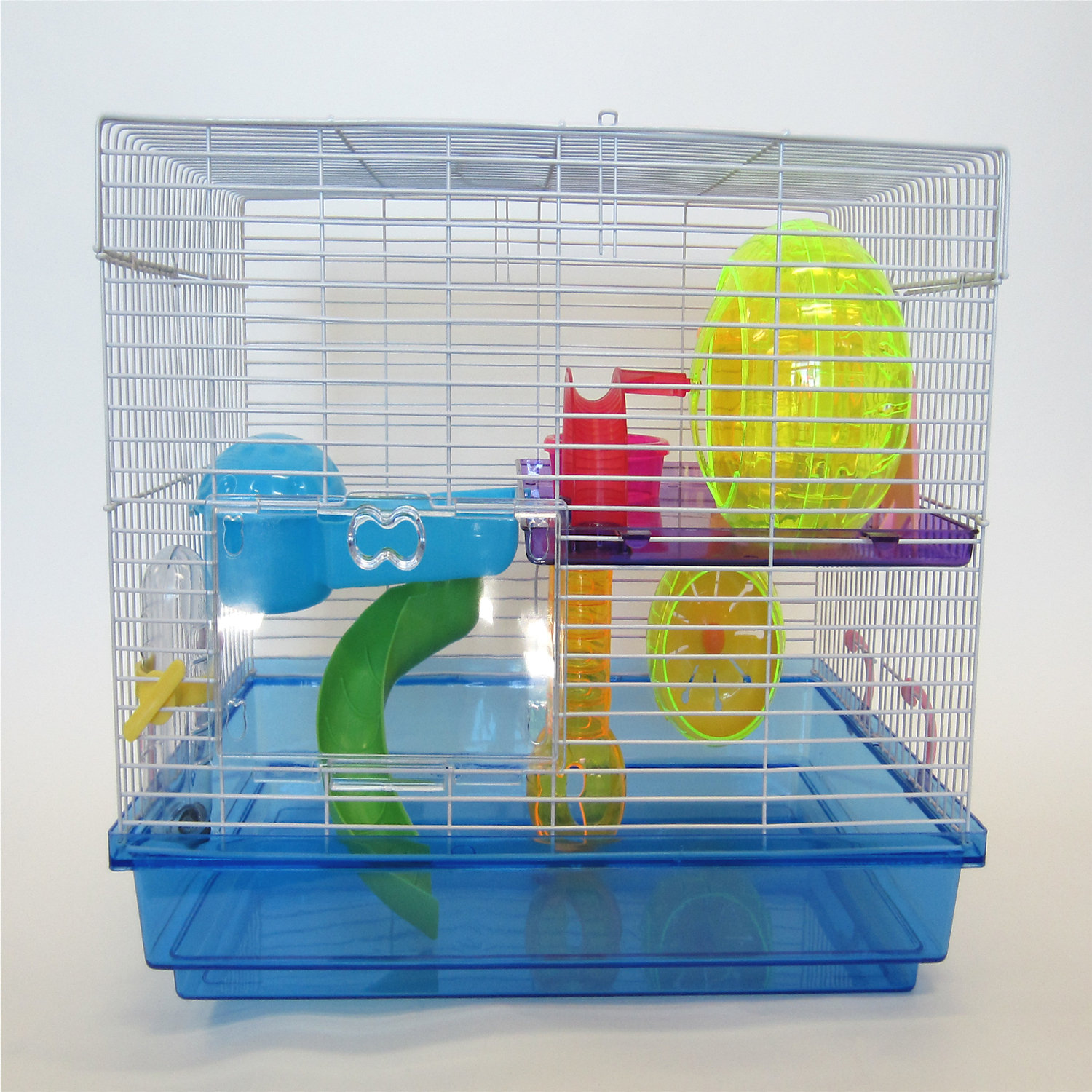 Image of YML Large Hamster Cage in Blue
