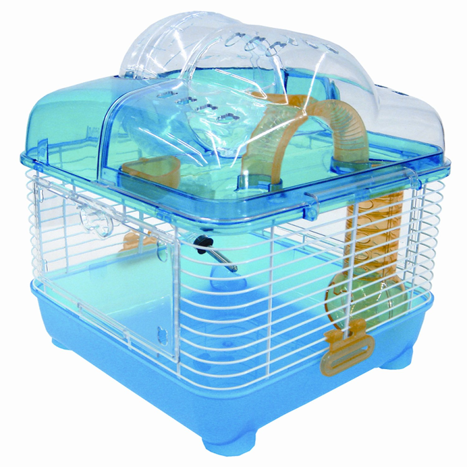 "Image of ""YML Clear Blue Hamster Cage, 10"""" L X 10"""" W X 12"""" H, 10 IN"""