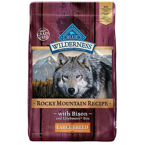 Blue Buffalo Blue Wilderness Rocky Mountain Recipe Large Breed Adult Bison Dry Dog Food