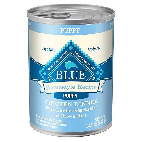 Blue Buffalo Blue Homestyle Recipe Puppy Chicken Dinner With Garden Vegetables Wet Dog Food 12 5 Oz Case Of 12