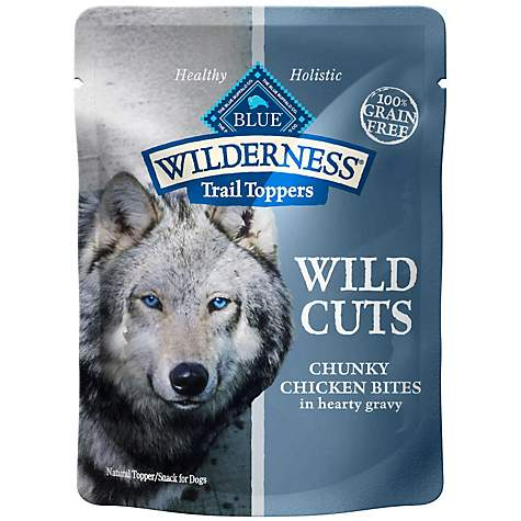 Blue Buffalo Blue Wilderness Trail Toppers Chicken Wild Cuts Dog Food Topper